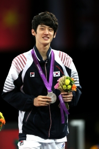 2012 London Olympic Games Korean Taekwondo Lee Dae-hoon won silver medal in men's -58kg at the ExCel Arena. 2012.08.09 Photo by Korean Olympic Committee Ministry of Culture, Sports and Tourism Korean Culture and Information Service -------------------------------------- 2012 ·±´ø ¿Ã¸²ÇÈ ³²ÀÚ Å±ǵµ -58kg ÀÌ´ëÈÆ Àº¸Þ´Þ ȹµæ »çÁøÁ¦°ø - ´ëÇÑüÀ°È¸ ¹®È­Ã¼À°°ü±¤ºÎ Çؿܹ®È­È«º¸¿ø