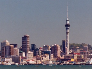 Sky Tower And Auckland Sky line